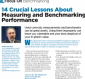 14 Crucial Lessons About Measuring and Benchmarking Performance