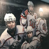 The in-plant printed this wall wrap for the university's hockey rink.