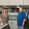 Along with its inkjet press, Physicians Mutual's Mail Processing Center installed two Ricoh Pro C9110 digital presses. With one of them are (from left) Rob French, Lindsey Duke, Mike Lesley and Aji George.