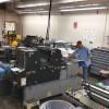 Inmates run one of the presses at the Ventura County Sheriff's Department's in-plant.
