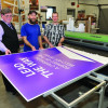 WCU and Roland VersaUV LEJ-640 hybrid flatbed UV printer