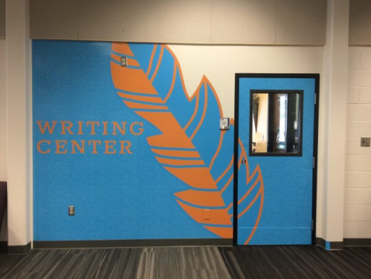 Samplesof wide-format graphics installed by the in-plants at University of Alaska Anchorage.
