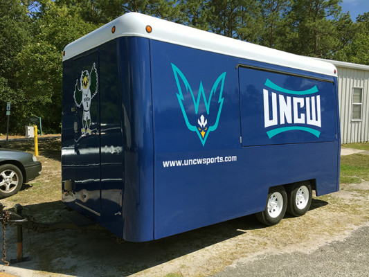 Sample of wide-format graphics installed by the University of North Carolina Wilmington.