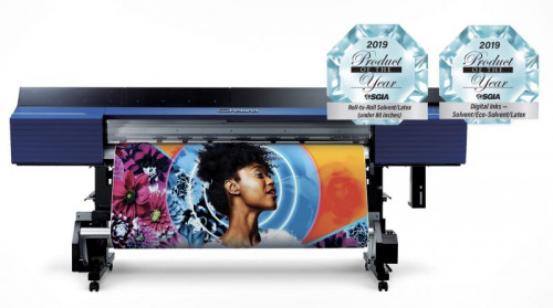 Roland's TrueVIS VG2 Series and TR2 ink won SGIA 2019 Product of the Year award.