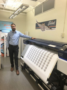 Sean Guldin shows off Blink's new Epson SureColor S40600.
