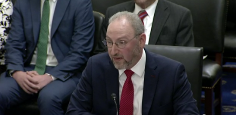 GPO director nominee Hugh Nathanial Halpern testifies before the U.S. Senate's Committee on Rules and Administration.