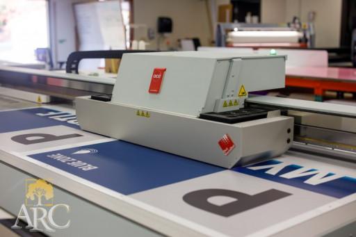 The Océ Arizona 1260 GT flatbed printer.