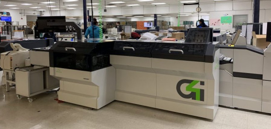 One of the two Neopost DS-1200 G4i mail inserters installed at Colorado's Integrated Document Solutions operation.