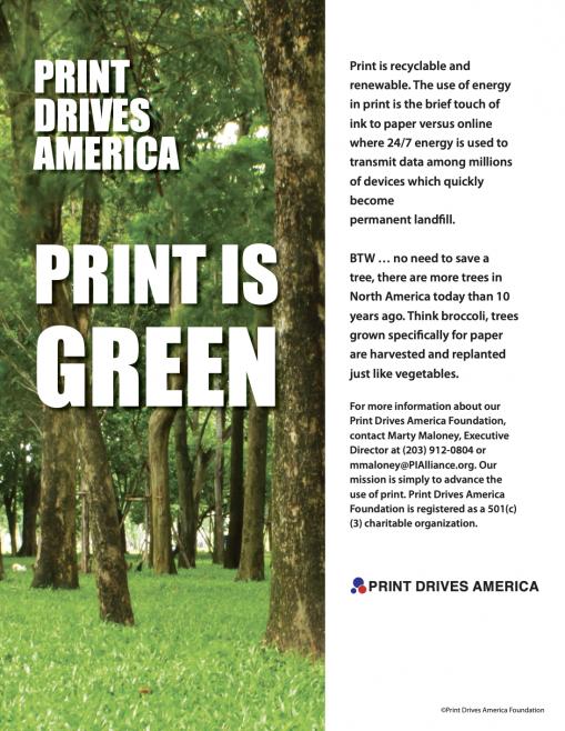Print Drives America Ad
