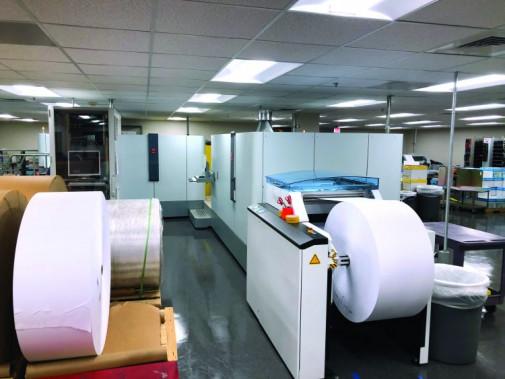 The new Océ ColorStream 3900 inkjet press at Cypress Fairbanks Independent School District's Janie Scott Print & Production Department.