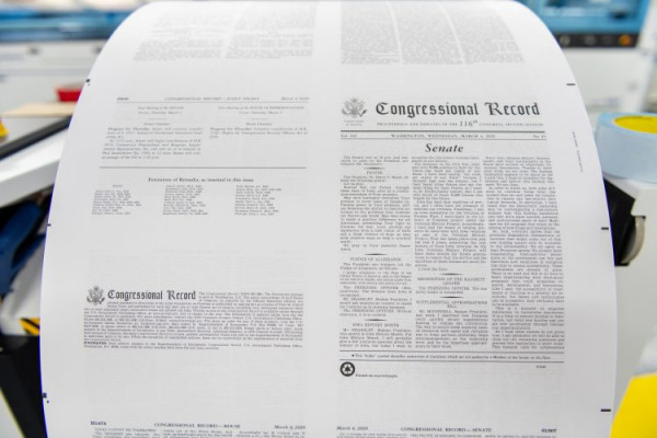 For the first time, GPO has printed the Congressional Record with an inkjet press.