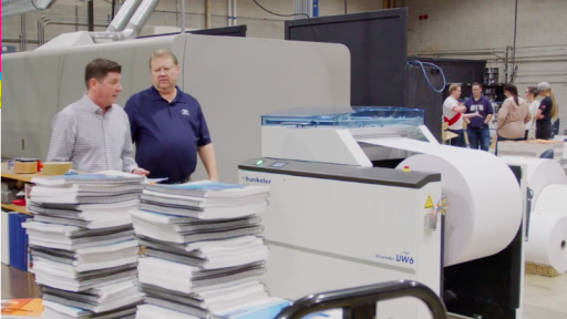 Brigham Young UniversityPrint & Mail was the first university in-plant to install a production inkjet press.