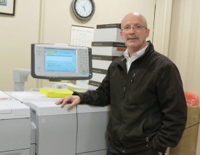 Rick Thibodeau, print manager at MaineGeneral Health