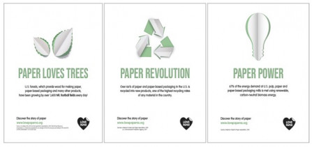 two sides north america love paper campaign