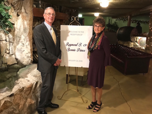 Ray Prince and wife, Bonnie, were honored at Cal Poly's 2018 International Graphic Communication Week banquet held at the Madonna Inn in San Luis Obispo.