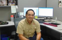 Digital Print Production Specialist Gabe Zamora.