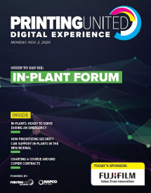 The PRINTING United Digital Experience In-Plant Forum is today.