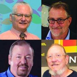 Clockwise from upper left: Jon Bedsted, Bruce Goodman, Jimmy Robinson, and Randall Bramlett.