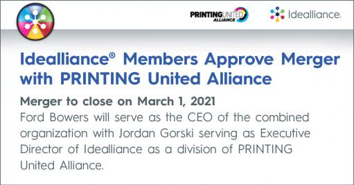 Printing united alliance and idealliance merge