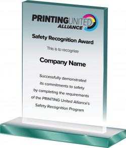PRINTING United Alliance safety recognition award