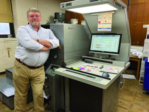 """""""I wish I'd had it 20 years ago"""" is how Grant Crosslin, manager of the HCDE Print Shop of the Hamilton County School District in Chattanooga, Tenn., sums up his feelings about the Presstek CPO 34DI-E offset press installed there in 2019."""