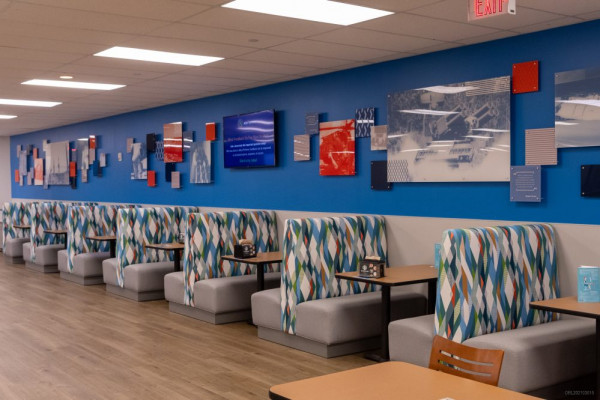 The in-plant produced all of the wall graphics for a cafeteria redesign in Orlando.