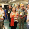 Al Goranson leads a tour of the University of Colorado-Boulder's in-plant during the IPMA 2016 conference.