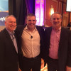 EFI's Guy Gecht (center) flanked by Xerox's Jeff Jacobson and Joel Quadracci, of Quad/Graphics.