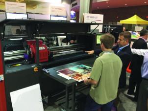 The EFI H1625 LED hybrid printer.