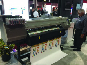 The Ricoh Pro L4160 latex printer.
