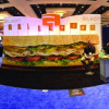 Gilson Graphics created a 19-foot-wide sandwich that reinforced the look and feel of its campaign.