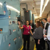 The GPO tour was a popular part of the event. Here, attendees learn about GPO's new Timson Zero Makeready web press.