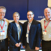 Attendees from the World Bank Group's in-plant visited the Konica Minolta booth at drupa earlier this week. From left: David Leonard, Barbara Stainbrook (Konica Minolta), Jimmy Vainstein and Les Barker.