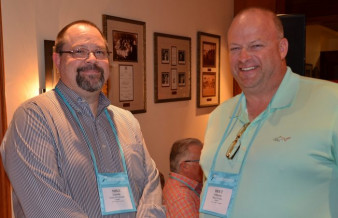 In-plant managers Mike Lincoln (State of Colorado) and Bret Johnson (Mayo Clinic) at the Inkjet Summit.
