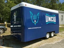The refurbished trailer.