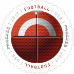 USPS forever stamp football