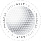 USPS forever stamp golfball