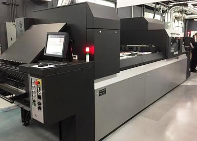 Fujifilm B2-format J Press 750S inket press inside the Fujifilm Tech Center.