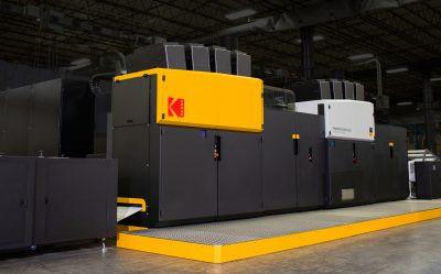 Kodak Prosper Ultra 520 rollfed digital inkjet printing press debuts.