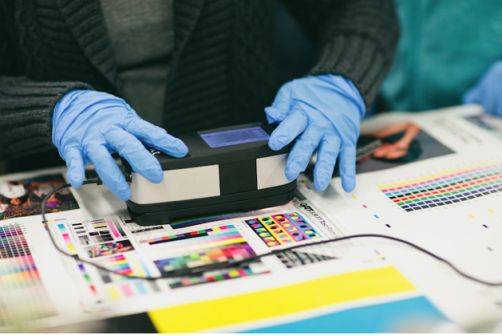 Color measurement is a foundation area of education in Western Michigan University's Graphic and Printing Science program.