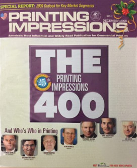 The Printing Impressions ranking of the largest printing companies was once the PI 500, and then became the PI 400.