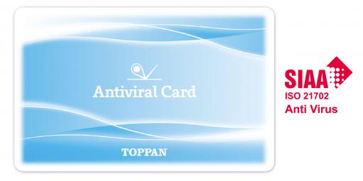 Toppan Printing has developed an antiviral card.