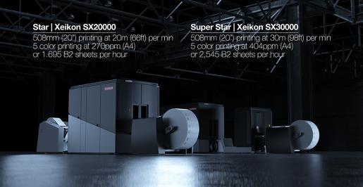 Xeikon introduces the new SX20000 digital color press and Xeikon SX30000.