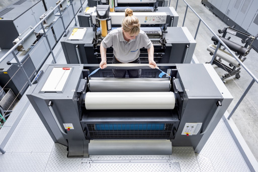 One highlight is the new coating unit for efficient and flexible top-quality surface finishing with a concept based on XL technology from Heidelberg.