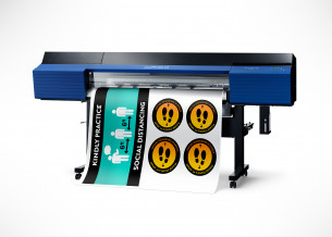 Roland DGA introduced social distancing signage solutions