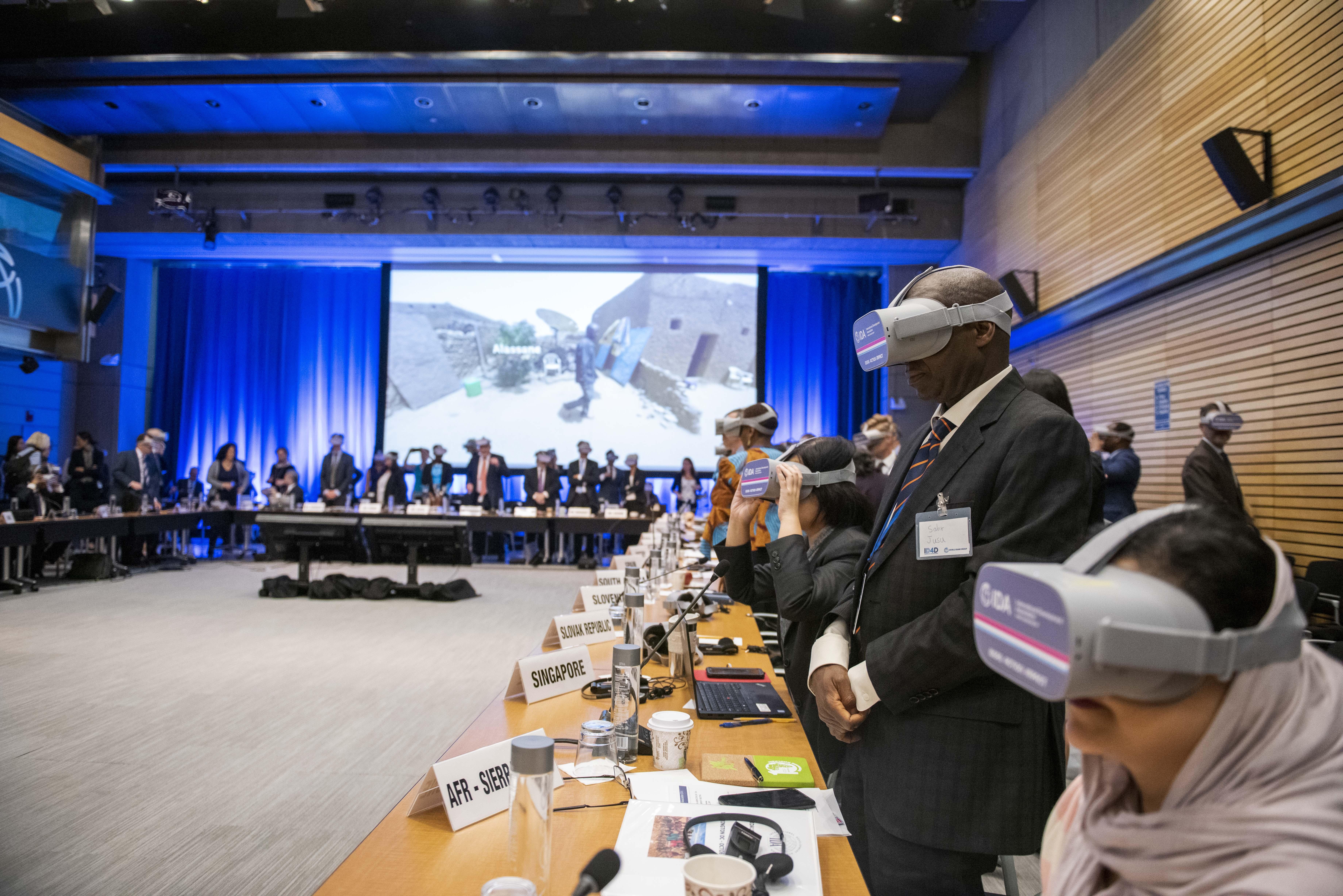 VR film screening at World Bank